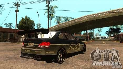 BMW 135i Coupe GP Edition Skin 3 pour GTA San Andreas vue de droite