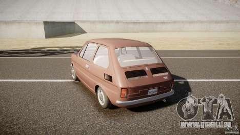 Fiat 126 pour GTA 4 Vue arrière de la gauche