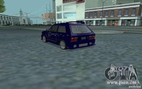 Yugo 45 Tuneable pour GTA San Andreas sur la vue arrière gauche