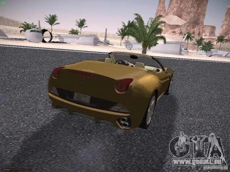 Ferrari California für GTA San Andreas rechten Ansicht