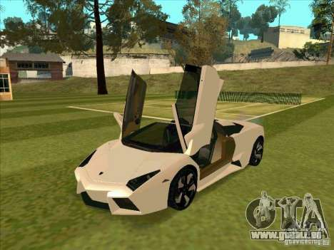 Lamborghini Reventon Convertible pour GTA San Andreas laissé vue