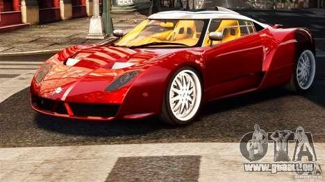 Spyker C12 Zagato 2007 pour GTA 4 Vue arrière de la gauche
