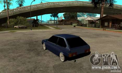 Lada VAZ 2108 pour GTA San Andreas sur la vue arrière gauche