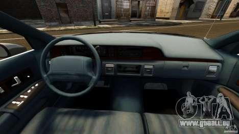 Chevrolet Caprice 1991 LCC Taxi pour GTA 4 Vue arrière