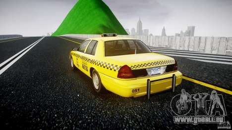 Ford Crown Victoria Raccoon City Taxi pour GTA 4 Vue arrière de la gauche