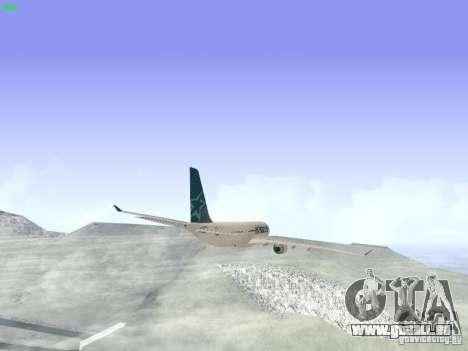 Airbus A330-200 Air Transat für GTA San Andreas Rückansicht