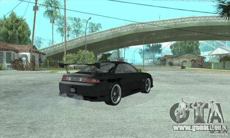 NISSAN SILVIA S14 CHARGESPEED FROM JUICED 2 pour GTA San Andreas sur la vue arrière gauche