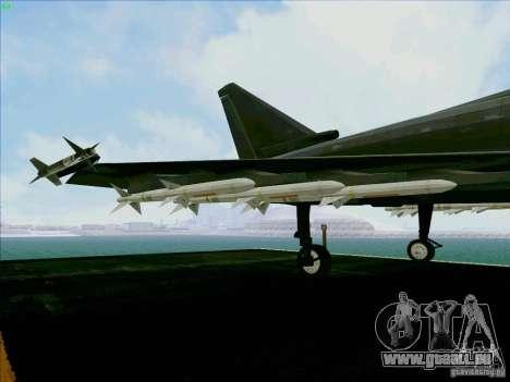 Eurofighter-2000 Typhoon pour GTA San Andreas vue de côté