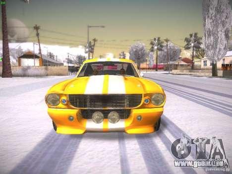 Shelby GT500 Eleanor pour GTA San Andreas vue de droite