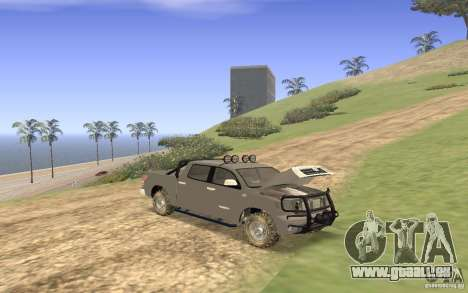 Toyota Tundra 4x4 pour GTA San Andreas vue de côté