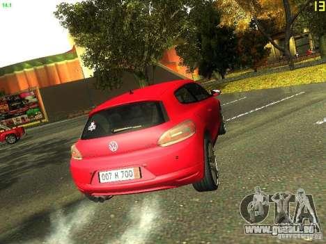 Volkswagen Scirocco 2009 pour GTA San Andreas vue intérieure