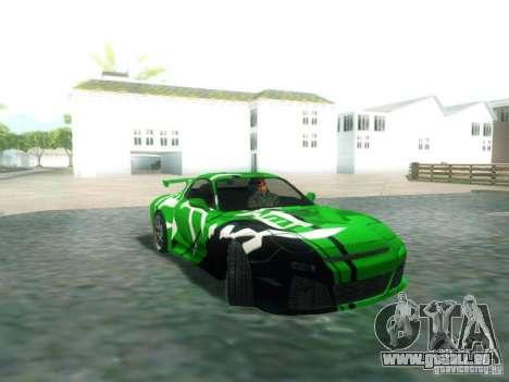 Mazda RX7 pour GTA San Andreas vue de droite