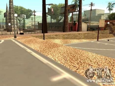 Le nouveau terrain de basket à Los Santos pour GTA San Andreas quatrième écran