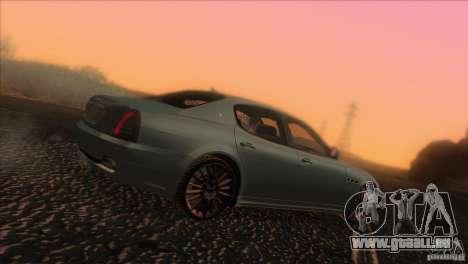 Maserati Quattroporte Sport GT V1.0 pour GTA San Andreas laissé vue