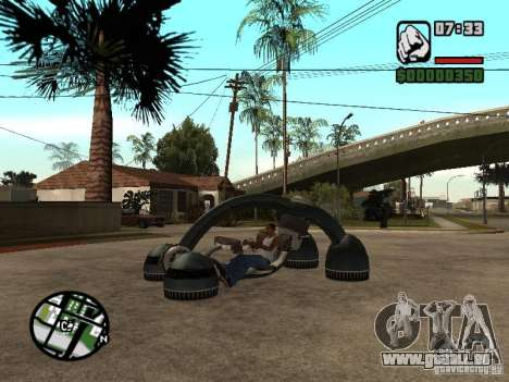New Bravura UFO für GTA San Andreas linke Ansicht