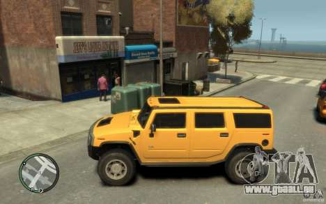 Hummer H2 pour GTA 4 est une gauche