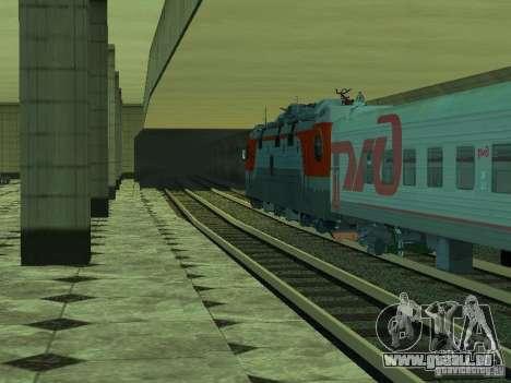 ÈP1M-392 OJSC « CHEMINS DE FER RUSSES » pour GTA San Andreas vue de dessous
