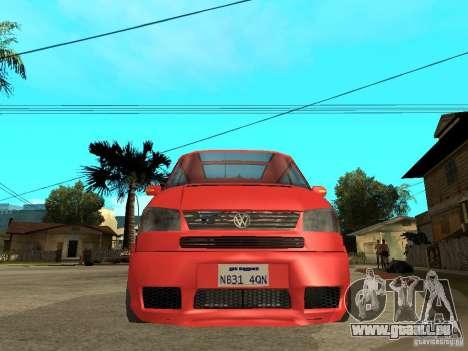 VW T4 Eurovan VR6 BiTurbo 20T pour GTA San Andreas vue de droite