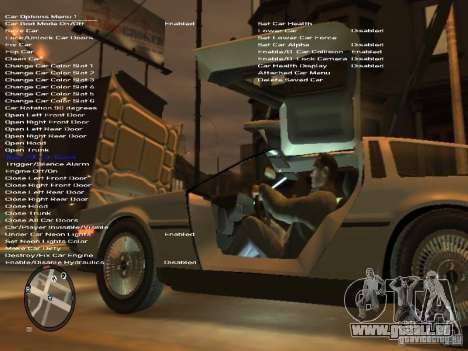 De Lorean DMC 12 für GTA 4 obere Ansicht