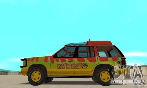 Ford Explorer (Jurassic Park) für GTA San Andreas linke Ansicht