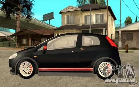 Fiat Grande Punto 3.0 Abarth pour GTA San Andreas laissé vue