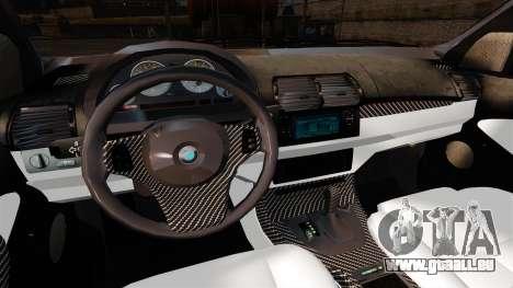 BMW X5 4.8IS BAKU pour GTA 4 Vue arrière