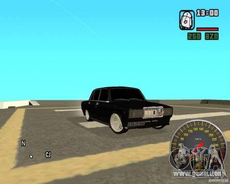 VAZ 2107 DuB pour GTA San Andreas vue de droite