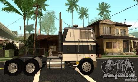Peterbilt 362 Cabover pour GTA San Andreas laissé vue
