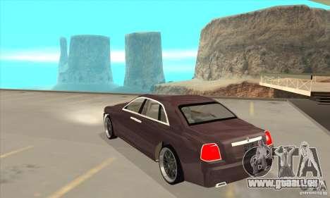 Rolls-Royce Ghost 2010 pour GTA San Andreas sur la vue arrière gauche