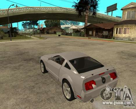 Ford Mustang GT 2005 pour GTA San Andreas laissé vue