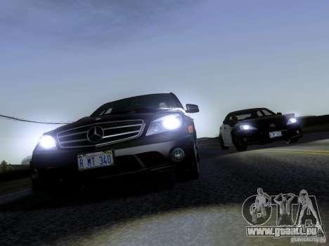 Mercedes-Benz C63 AMG 2010 pour GTA San Andreas vue arrière