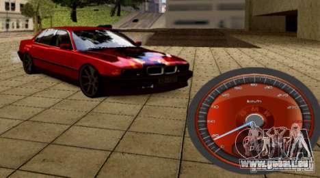 Compteur de vitesse BMW pour GTA San Andreas deuxième écran