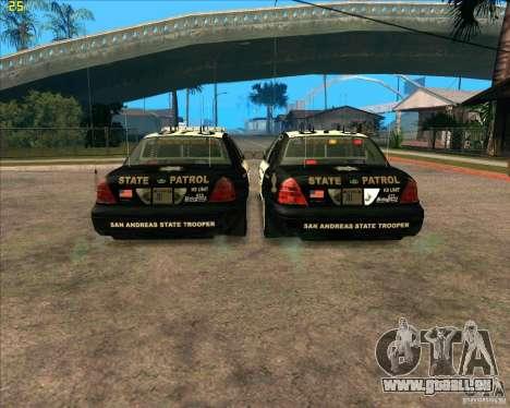Ford Crown Victoria Police pour GTA San Andreas vue de droite
