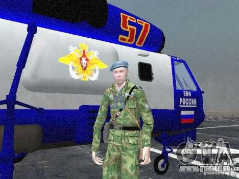 Ka-27 pour GTA San Andreas vue arrière