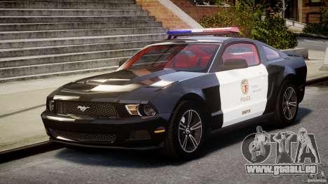 Ford Mustang V6 2010 Police v1.0 für GTA 4