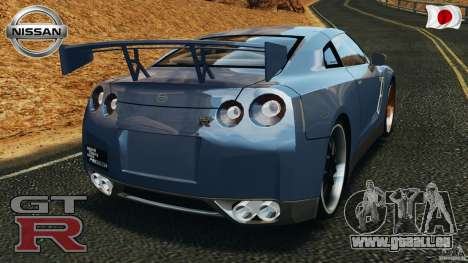 Nissan GT-R 35 rEACT v1.0 pour GTA 4 Vue arrière de la gauche