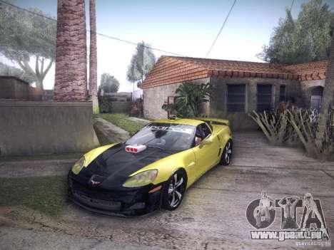 Chevrolet Corvette C6 Z06 Tuning pour GTA San Andreas vue intérieure