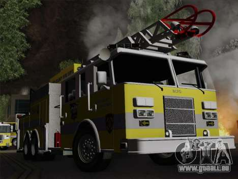 Pierce Arrow XT BCFD Tower Ladder 4 für GTA San Andreas obere Ansicht