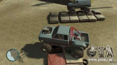 Bobcat megatruck 1.0 für GTA 4 Rückansicht