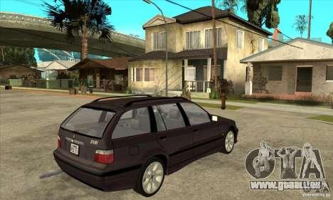 BMW 318i Touring für GTA San Andreas Rückansicht