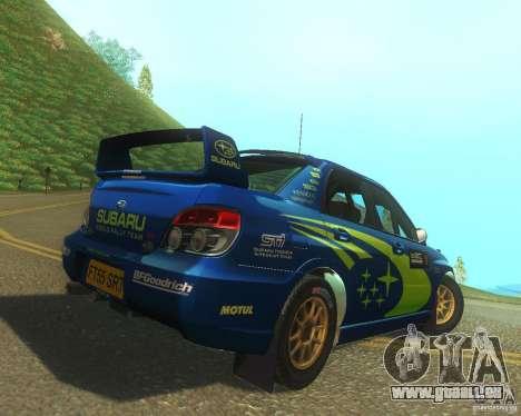 Subaru Impreza WRX STI DIRT 2 pour GTA San Andreas vue de droite
