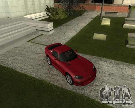 Dodge Viper GTS Coupe pour GTA San Andreas laissé vue