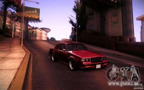 Buick Regal GNX pour GTA San Andreas vue de droite