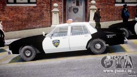 Chevrolet Impala Police 1983 pour GTA 4 Vue arrière de la gauche