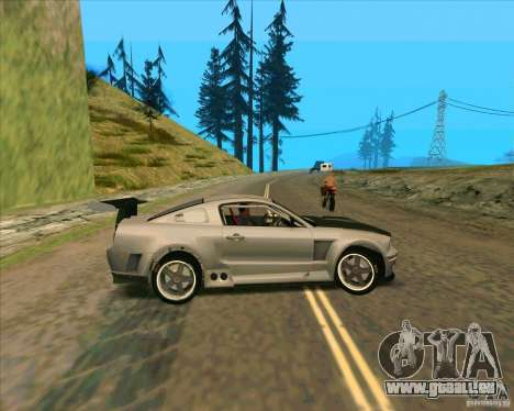 Ford Mustang GTR pour GTA San Andreas laissé vue