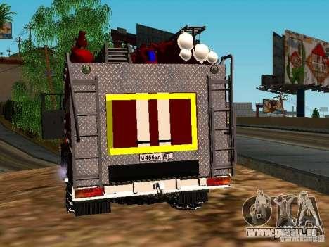 Ural 5557-40 Feuer für GTA San Andreas zurück linke Ansicht