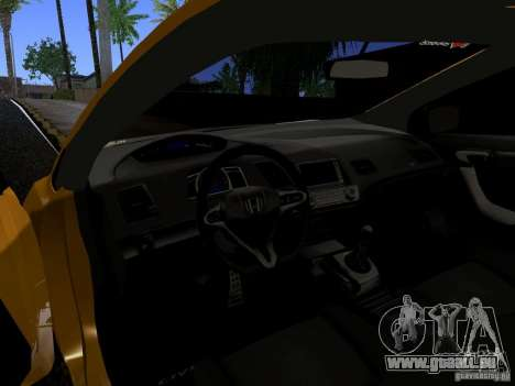 Honda Civic Si JDM für GTA San Andreas Rückansicht