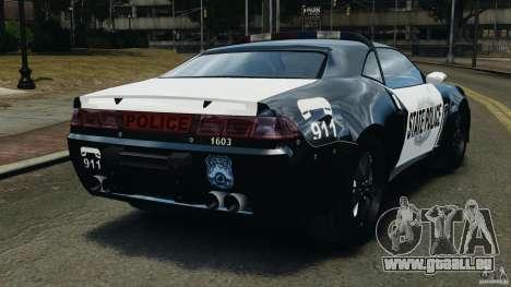 NFSOL State Police Car pour GTA 4 Vue arrière de la gauche