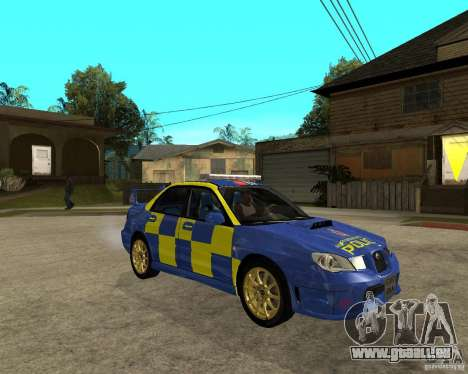 Subaru Impreza STi police für GTA San Andreas rechten Ansicht