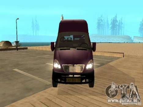 Taxi de Gazelle 32213 pour GTA San Andreas vue de droite